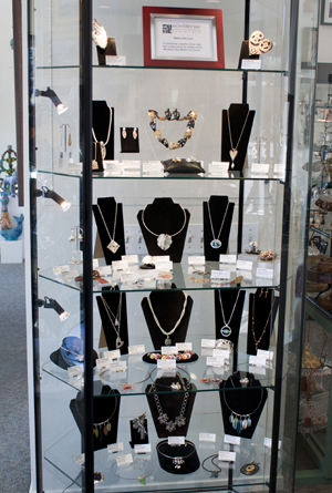 """Made with Love"" jewelry by the artists of the Monterey Bay Metal Arts Guild"